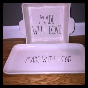 New rae dunn made with love dish set